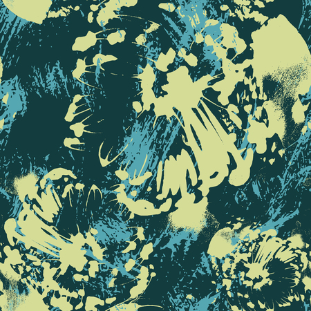 abstract: Abstract floral seamless pattern. Vector illustration.