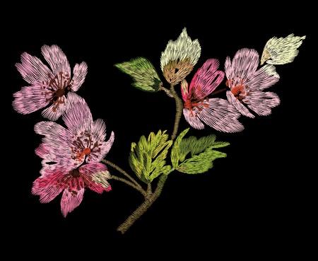 カラフルな刺繍のベクトル