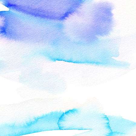 Blue abstract watercolor background for greeting cards