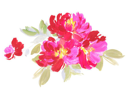 Flowers watercolor illustration. Manual composition. Mothers Day, wedding, birthday, Easter, Valentines Day. Pastel colors. Spring. Summer.