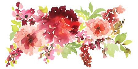 인사말 카드, 배너, 초대장에 대 한 벡터 꽃 그림.