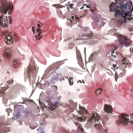 Floral background for cards, invitations. Summer abstract flowers. Standard-Bild - 130030572