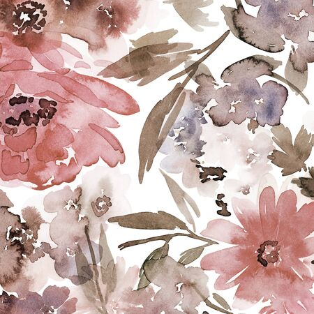 Floral background for cards, invitations. Summer abstract flowers. Standard-Bild - 130030573