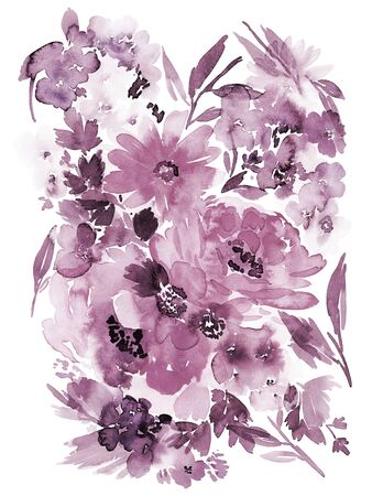 Floral background for cards, invitations. Summer abstract flowers. Standard-Bild - 130030756