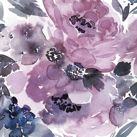 Floral background for cards, invitations. Summer abstract flowers. Standard-Bild - 130030763