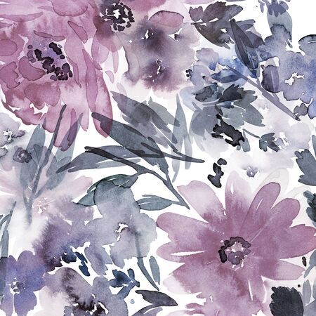 Floral background for cards, invitations. Summer abstract flowers. Standard-Bild - 130030770