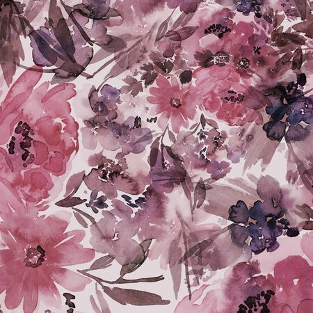 Floral background for cards, invitations. Summer abstract flowers. Standard-Bild - 130031944