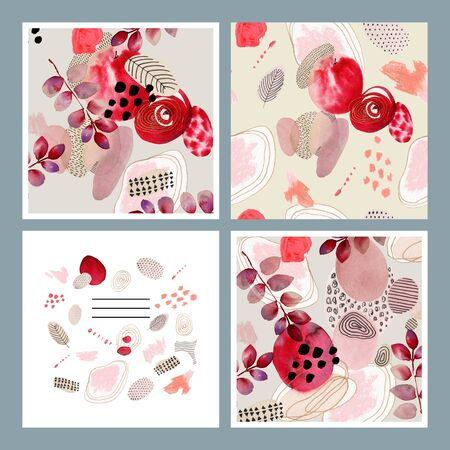 Abstract background for cards, social media, banners, invitations. Handmade geometric shapes. Stok Fotoğraf
