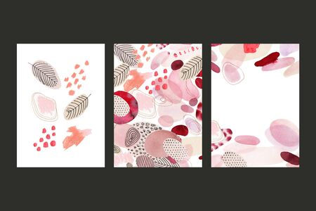Abstract background for cards, social media, banners, invitations. Handmade geometric shapes. Archivio Fotografico - 135890552