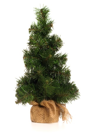 mini fake christmas tree isolated on white background stock photo 50937641 - Mini Fake Christmas Tree