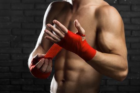 artes marciales mixtas: Las artes marciales mixtas de combate Preparaci�n Vendajes para el entrenamiento