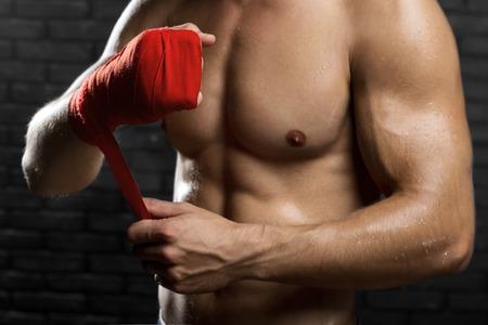 artes marciales mixtas: Las artes marciales mixtas de combate Preparación Vendajes para el entrenamiento