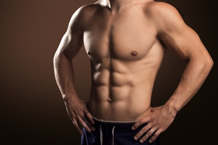 Muscular Handsome Man Stock Photo