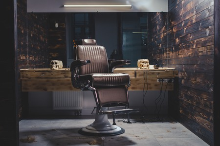 Stylish Vintage Barber Chair Stock fotó - 70224443