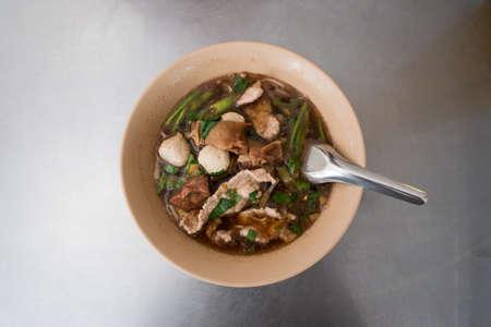 Stewed pork noodle photo