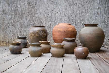 earthen: Earthen jars Stock Photo