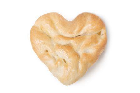 Heart Shaped Flat Bread photo