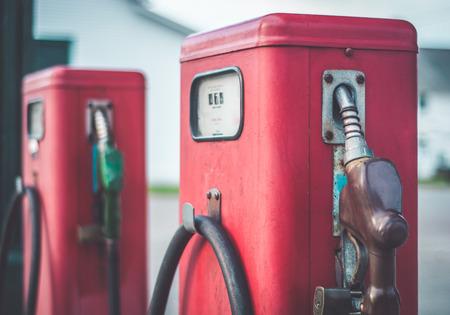 fuel pumps: Old fashioned fuel pumps.