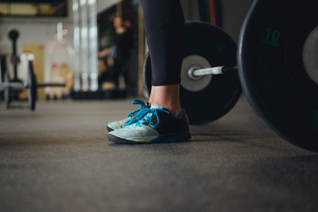 man working out: Cropped image of a crossfit man working out. Stock Photo