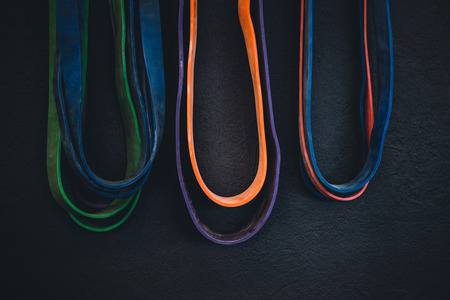 Detail shot of resistance bands.