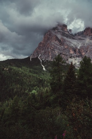 Cloudy Dolomites in northern italy.