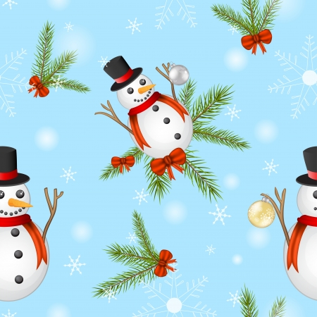 Snowman pattern Illustration
