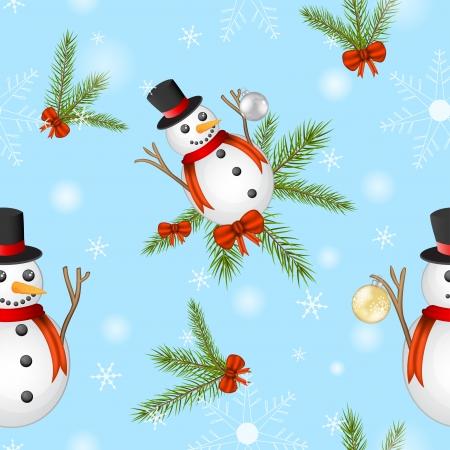 Snowman pattern Illustration