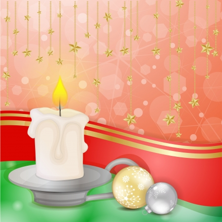 Christmas candle with star decoration