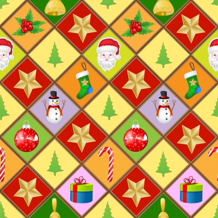 Pattern with christmas elements Vector