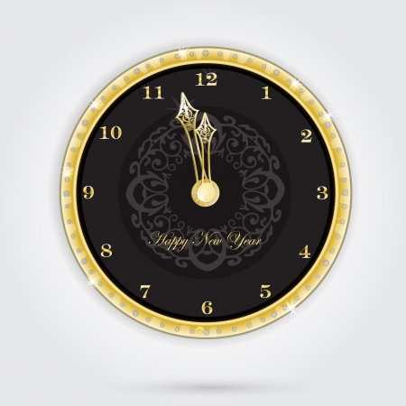 Isolated clock for new year Illustration
