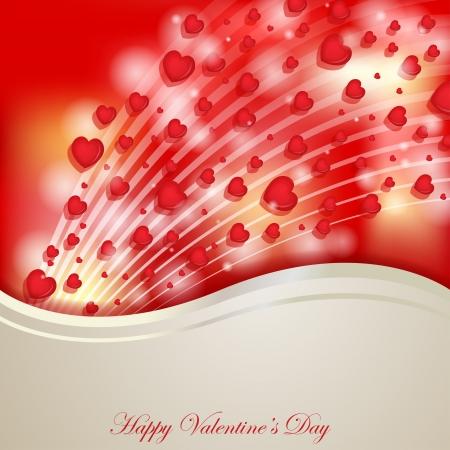 Valentines day heart decoration