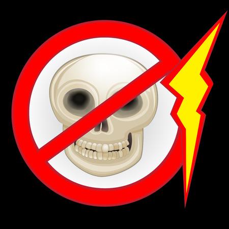 electroshock: Danger warning sign