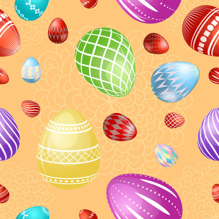 Seamless pattern with colorful Easter eggs Illustration