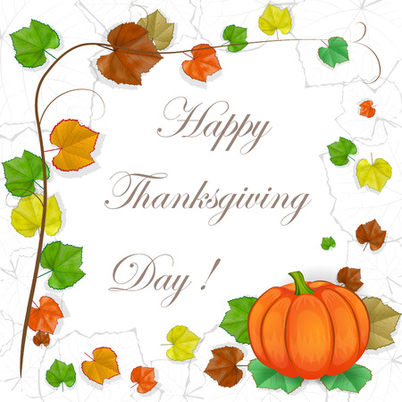 Thanksgiving-Hintergrund mit Kürbis Standard-Bild - 30524820