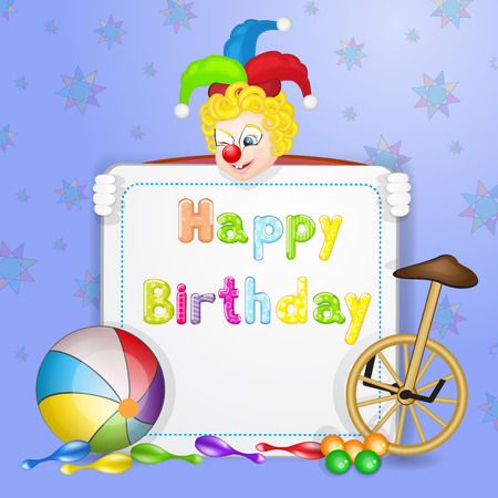 Happy Birthday Greetings Cute Happy Birthday Card With Fun Clowns – Clown Birthday Cards