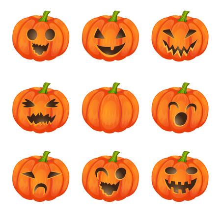 Set calabazas para Halloween