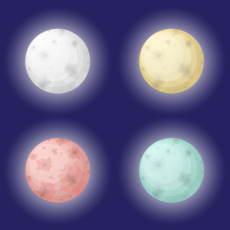 Moon set Vector