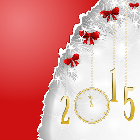 Red banner for new year Vector