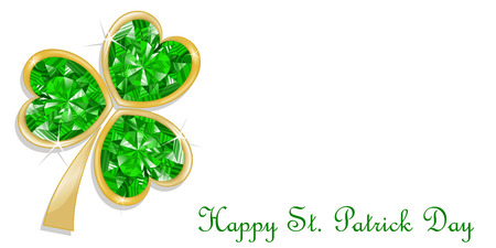 three leaf clover: Three leaf clover diamond for St. Patrick\\
