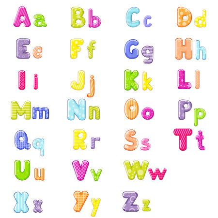 Cartoon alphabet Standard-Bild - 39243976