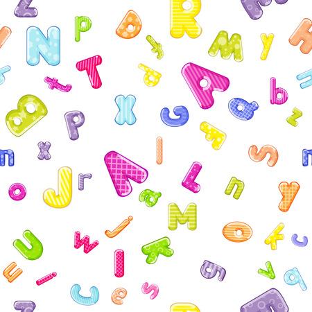 cartoon alphabet pattern
