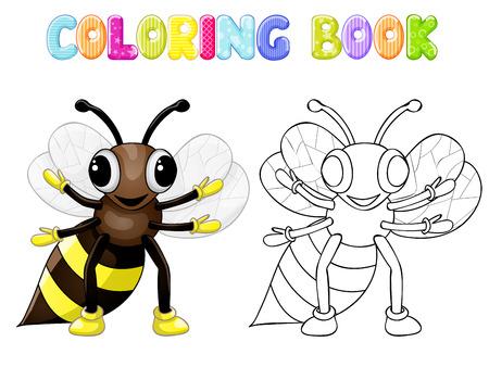 cicada: Coloring bee