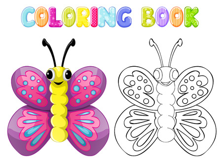 stick bug: Coloring butterfly