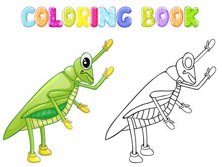 stick bug: Coloring cricket bug