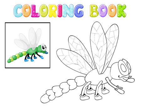 cicada: Coloring dragonfly