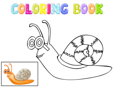 stick bug: Coloring snail