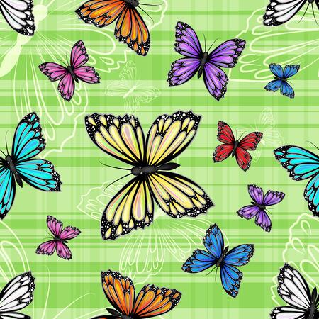 papillon: Seamless pattern avec des papillons color�s