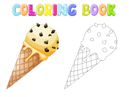 glace: Coloring Ice cream Illustration