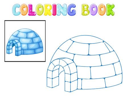 esquimales: Igl� para colorear