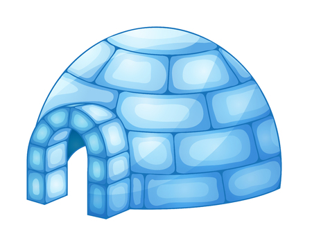 ice brick: illustration of a igloo